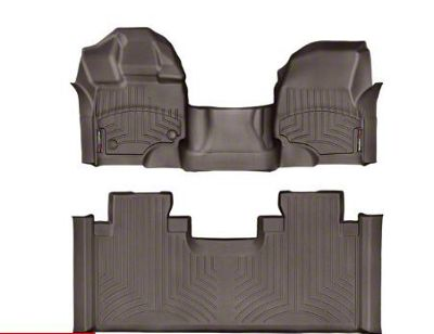 Weathertech DigitalFit Front & Rear Floor Liners - Over The Hump - Cocoa (15-19 F-150 SuperCab)