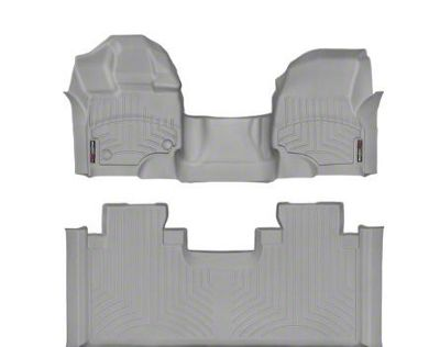 Weathertech DigitalFit Front & Rear Floor Liners - Over The Hump - Gray (15-19 F-150 SuperCab)