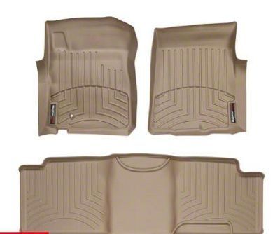 Weathertech DigitalFit Front & Rear Floor Liners - Tan (00-03 F-150 SuperCab)