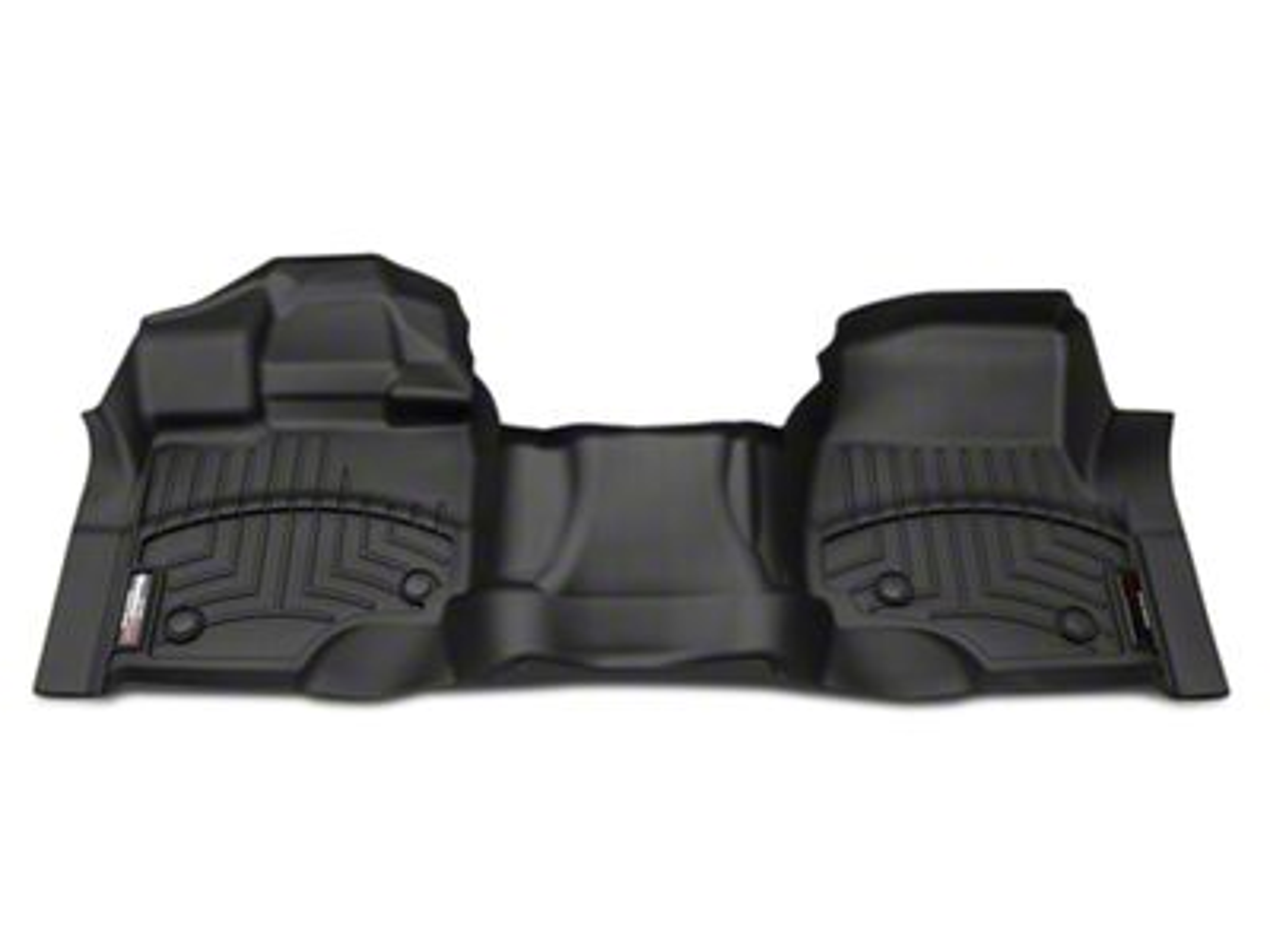 Weathertech DigitalFit Front Floor Liners - Black (15-19 F-150 SuperCab, SuperCrew w/ Bench Seat & Vinyl Floors)