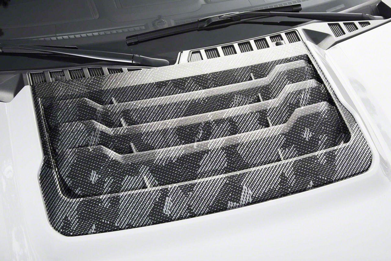 Icon Composites TrueFit F-22 Hood & Fender Vent Kit - Camo Carbon Fiber (17-19 F-150 Raptor)