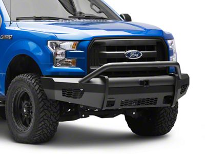 Road Armor Vaquero Series Front Bumper w/ Pre-Runner Guard & Receiver Hitch (15-17 F-150, Excluding Raptor)