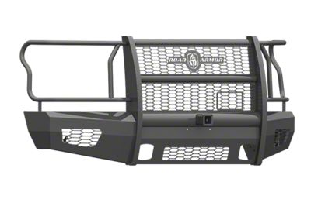 Road Armor Vaquero Series Front Bumper w/ Full Guard & Receiver Hitch (15-17 F-150, Excluding Raptor)