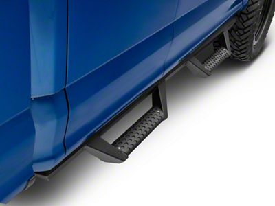 Armordillo Drop Style Side Step Bars - Matte Black (15-19 F-150 SuperCab)