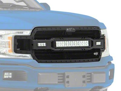 Westin HDX LED Upper Replacement Grille - Textured Black (18-19 F-150, Excluding Raptor)