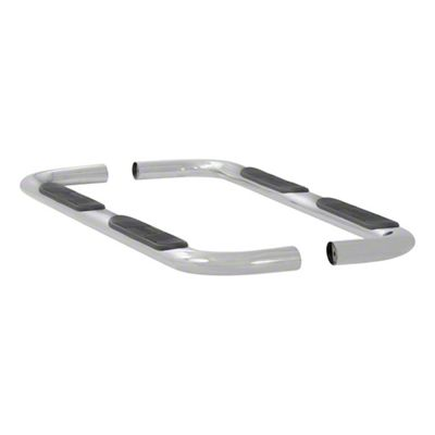 Luverne 4 in. Oval Nerf Side Step Bars - Polished Stainless (15-19 F-150 SuperCab)