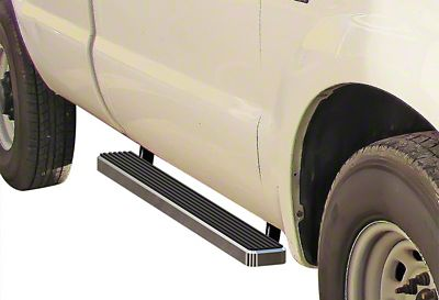 4 in. iStep Running Boards - Hairline Silver (97-03 F-150 Regular Cab)
