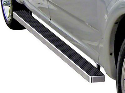 4 in. iStep Running Boards - Hairline Silver (01-03 F-150 SuperCrew)