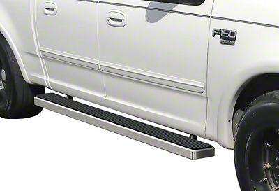 5 in. iStep Running Boards - Hairline Silver (01-03 F-150 SuperCrew)