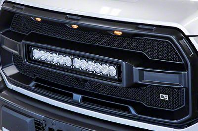 Caliber9 Upper Replacement Grille w/ Baja Designs 20 in. LED Light Bar (17-19 F-150 Raptor)