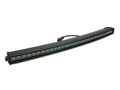 Rough Country 30 in. Black Series Curved Single Row LED Light Bar - Spot Beam