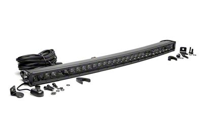 Rough Country 30 in. Chrome Series Curved Single Row LED Light Bar - Spot Beam
