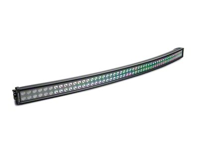 Rough Country 54 in. Black Series Curved Dual Row LED Light Bar - Flood/Spot Combo