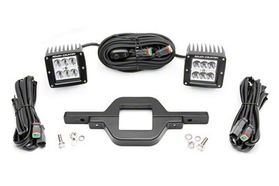 Rough Country Hitch Mount Chrome Series LED Light Kit - Spot Beam (97-19 F-150)