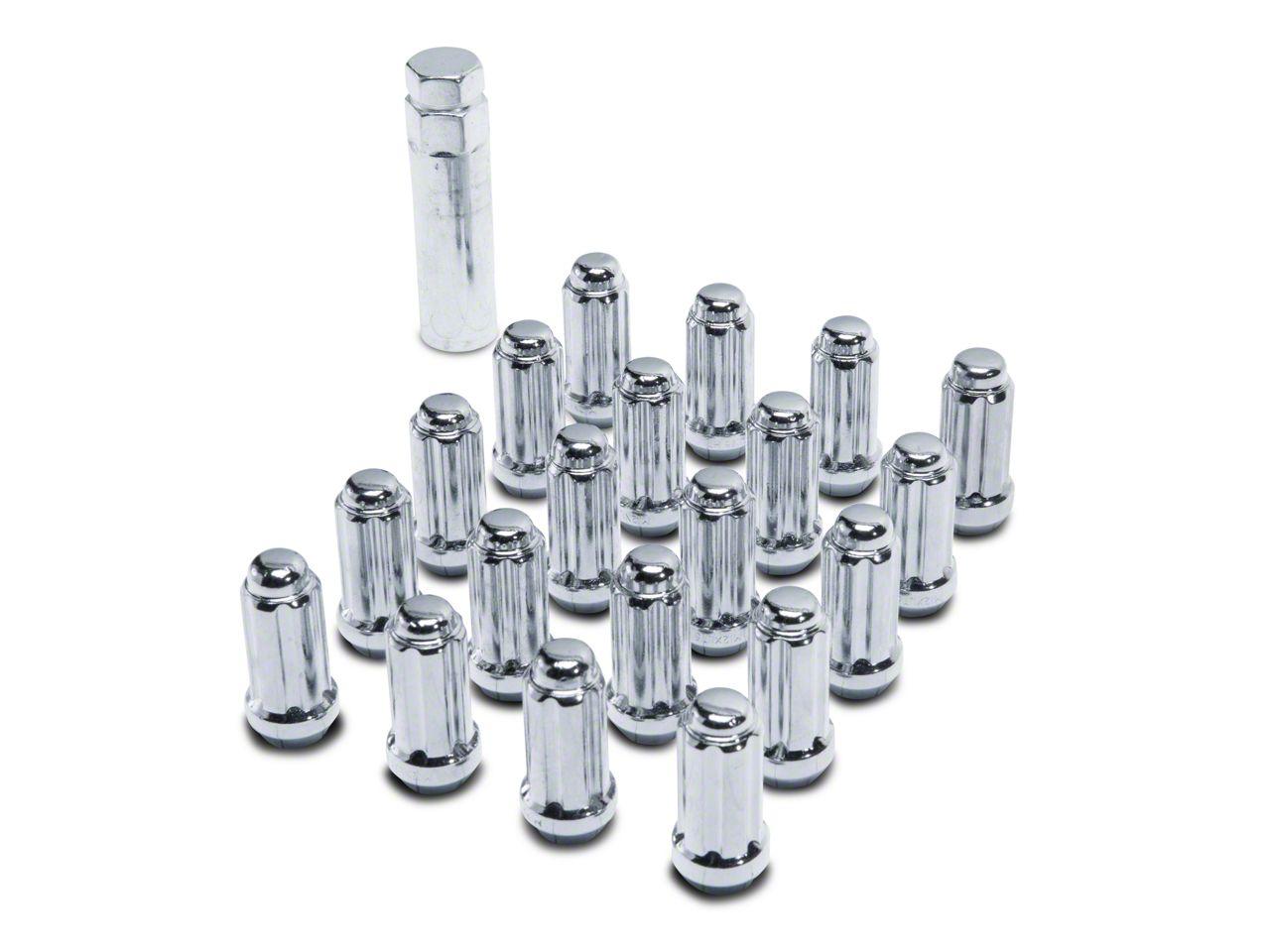 Coyote Chrome 6-Spline Lug Nut Kit - 14mm x 2.0 (00-03 F-150)