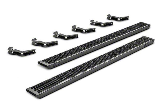 N-Fab Growler Fleet Sure Grip Running Boards - Textured Black (09-14 F-150 SuperCrew)