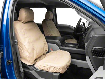 Husky Heavy Duty Front Row Seat Cover - Taupe (15-19 F-150 w/ Bucket Seats)
