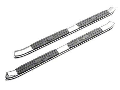 RedRock 4x4 4 in. Oval Bent End PNC Side Step Bars - Stainless Steel (05-19 Tacoma Access Cab)