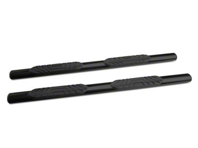 RedRock 4x4 4 in. Oval Straight Side Step Bars - Black (05-19 Tacoma Access Cab)