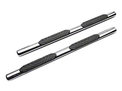 RedRock 4x4 4 in. Oval Straight Side Step Bars - Stainless Steel (05-19 Tacoma Access Cab)