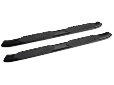 RedRock 4x4 5 in. Oval Straight Side Step Bars - Black (05-19 Tacoma Access Cab)