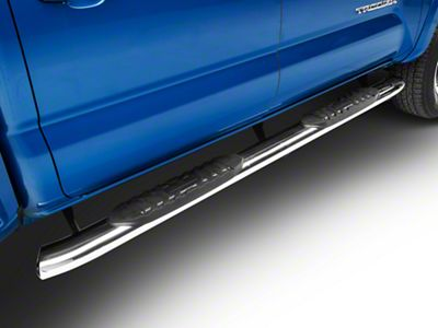 RedRock 4x4 5 in. Oval Bent End Side Step Bars - Stainless Steel (05-19 Tacoma Double Cab)