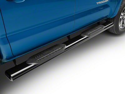 RedRock 4x4 6 in. Oval Straight Side Step Bars - Black (05-19 Tacoma Double Cab)