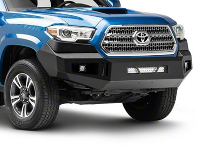 RedRock 4x4 HD Front Bumper w/ LED Fog Lights & 20 in. Dual Row LED Light Bar (16-19 Tacoma)