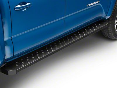 RedRock 4x4 Rattler Steel Running Boards - Black (05-19 Tacoma Double Cab)