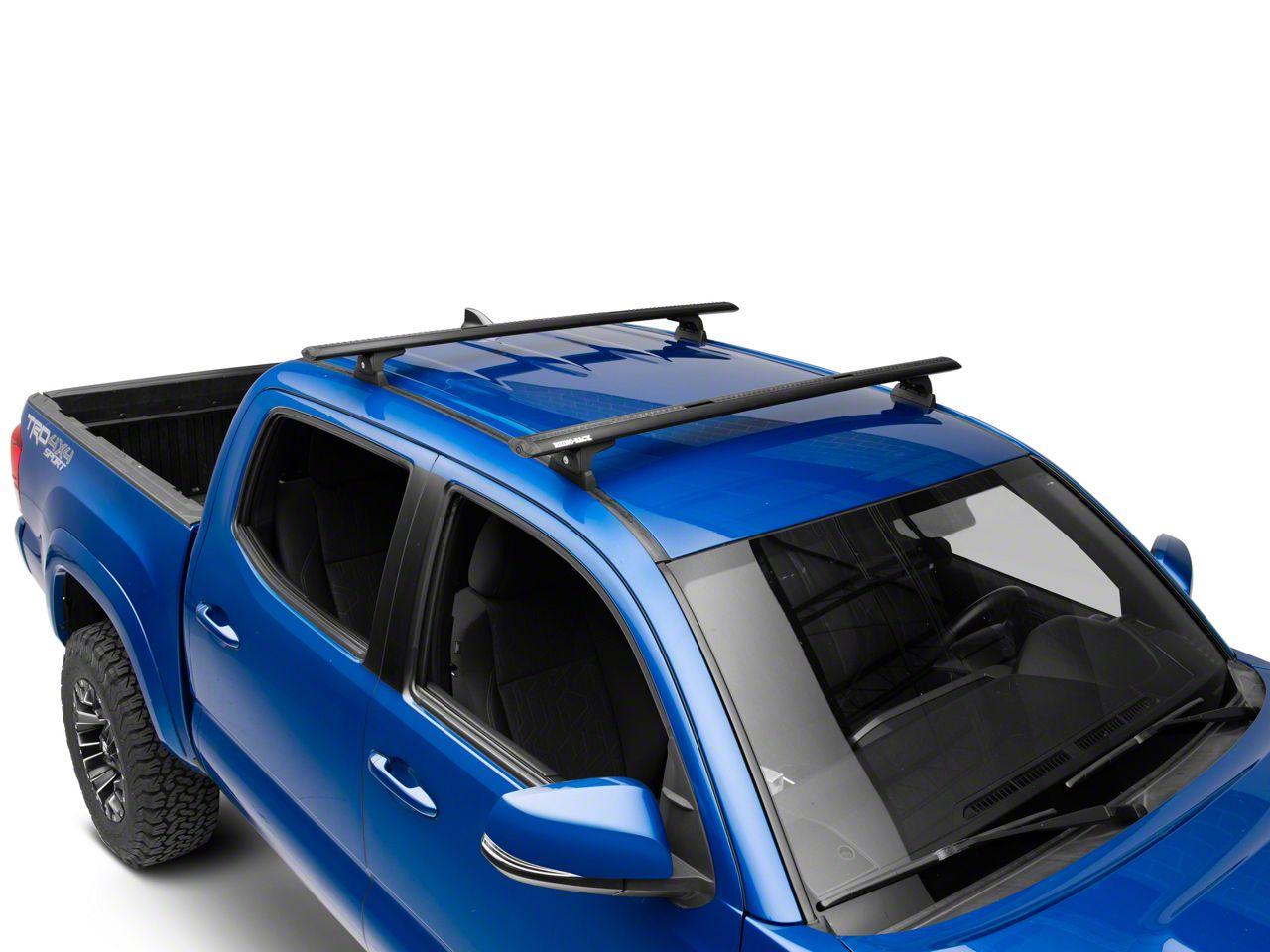 Rhino-Rack Vortex RLT600 Trackmount 2-Bar Roof Rack - Black (05-19 Tacoma Double Cab)
