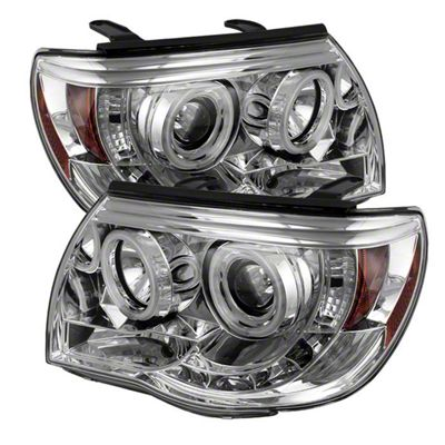 Axial Chrome Projector Headlights w/ CCFL Halos (05-11 Tacoma)