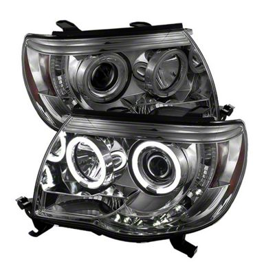 Axial Smoked Projector Headlights w/ CCFL Halos (05-11 Tacoma)