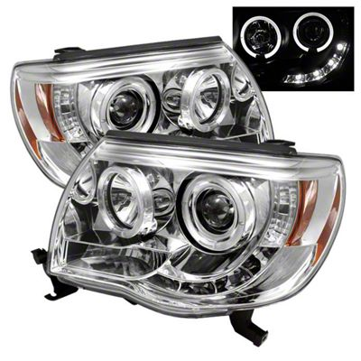 Axial Chrome Projector Headlights w/ LED Halos (05-11 Tacoma)