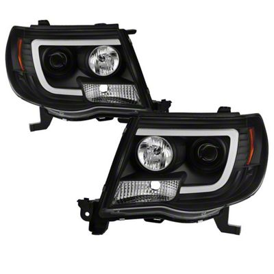 Axial Black V2 Projector Headlights w/ Daytime Running Light (05-11 Tacoma)