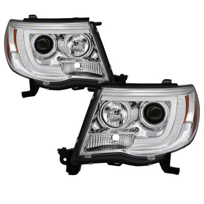 Axial Chrome V2 Projector Headlights w/ Daytime Running Light (05-11 Tacoma)