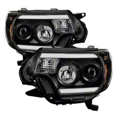 Axial Black Projector Headlights w/ Daytime Running Light (12-15 Tacoma)