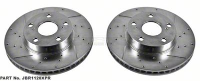 Power Stop Evolution Cross-Drilled & Slotted 5-Lug Rotors - Front Pair (05-15 Tacoma)