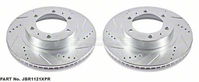 Power Stop Evolution Cross-Drilled & Slotted 6-Lug Rotors - Front Pair (05-19 Tacoma)