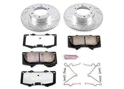 Power Stop Z36 Extreme Truck & Tow 6-Lug Brake Rotor & Pad Kit - Front (05-19 Tacoma)
