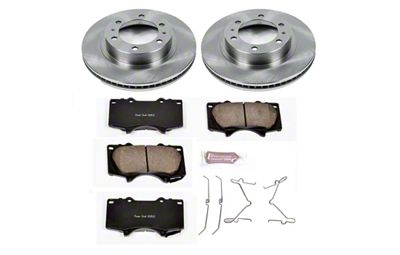 Power Stop OE Replacement 6-Lug Brake Rotor & Pad Kit - Front (05-19 Tacoma)