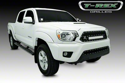 T-REX Torch Series Upper Grille Insert w/ 20 in. LED Light Bar - Black (12-15 Tacoma)