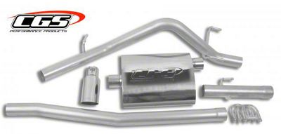 CGS Motorsports Stainless Single Exhaust System w/ Polished Tip - Side Exit (05-13 4.0L Tacoma)