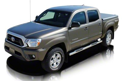 Raptor Series 3 in. Round Nerf Side Step Bars - Stainless Steel (05-19 Tacoma Double Cab)