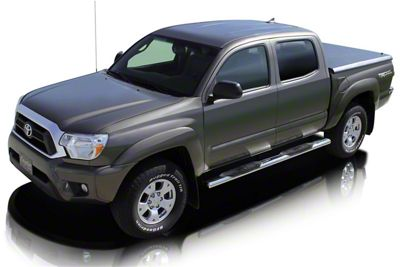 Raptor Series 5 in. Magnum Straight Oval Side Step Bars - Polished Stainless (05-19 Tacoma Double Cab)