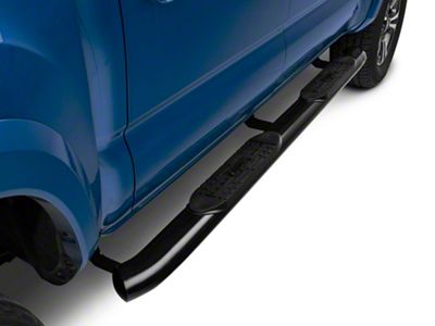 Raptor Series 5 in. OE Style Curved Oval Side Step Bars - Black (05-19 Tacoma Double Cab)