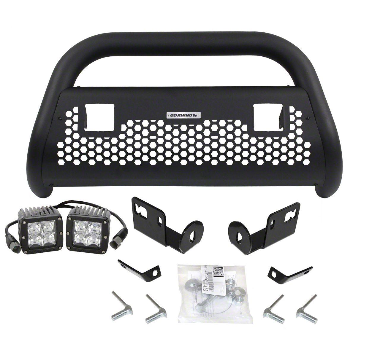 Go Rhino RC2 LR Bull Bar w/ LED Lights - Textured Black (16-19 Tacoma)