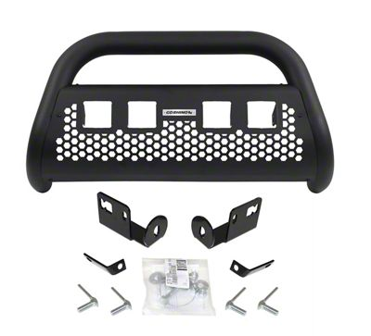 Go Rhino RC2 LR Bull Bar w/ Four LED Cube Light Mounting Brackets - Textured Black (16-19 Tacoma)
