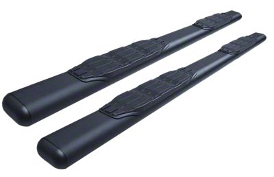 Go Rhino 5 in. 1000 Series Cab Length Side Step Bars - Textured Black (05-19 Tacoma Double Cab)