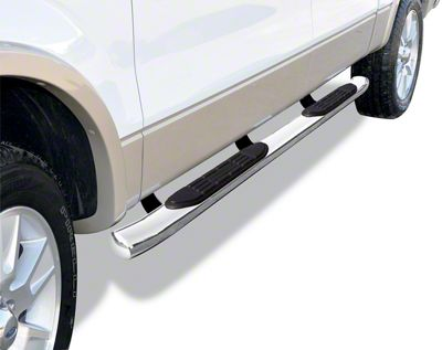 Go Rhino 415 Series Cab Length Side Step Bars - Stainless Steel (05-19 Tacoma Double Cab)