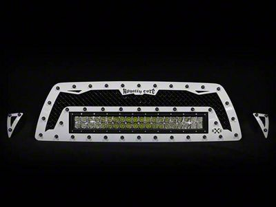 Royalty Core RC1X Incredible Upper Replacement Grille w/ 19 in. Double Row LED Light Bar - Black (05-11 Tacoma)